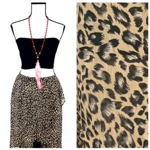 NWOT Joe Benbasset Leopard Skirt